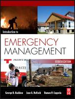 Introduction to Emergency Management PDF