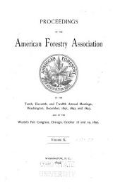 Proceedings of the American Forestry Association ...: Volume 10