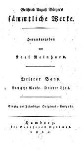 Sämmtliche Werke: Poetische Werke ; 3, Volume 3