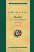 AMERICAN JOURNAL OF ISLAMIC SOCIAL SCIENCES 27 3 PDF
