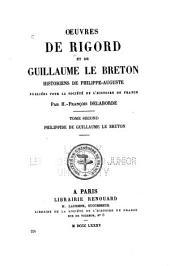 Œuvres de Rigord et de Guillaume le Breton, historiens de Philippe-Auguste: Philippide de Guillaume le Breton