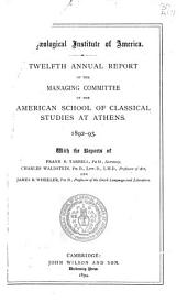 Annual Report - American School of Classical Studies at Athens: Volumes 12-16