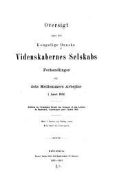 Oversigt over det Kongelige Danske videnskabernes selskabs forhandlinger