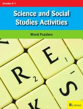 Science and Social Studies Activities: Word Puzzlers for Grades K-1