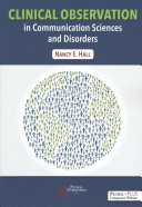 Clinical Observation in Communication Sciences and Disorders Book
