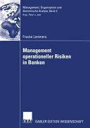 Management operationeller Risiken in Banken PDF