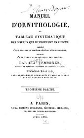 Manuel d'orinithologie: Volume3