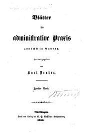 Deutsche Verwaltungsblätter: Blätter für administrative Praxis, Band 2