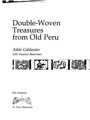 Double Woven Treasures from Old Peru PDF