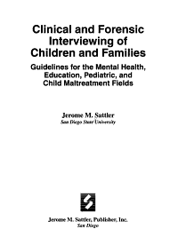 Clinical and Forensic Interviewing of Children and Families PDF