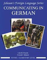 Communicating In German   Novice Level  PDF