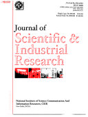 Journal of Scientific and Industrial Research