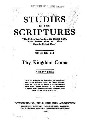 Studies in the Scriptures  Thy kingdom come PDF