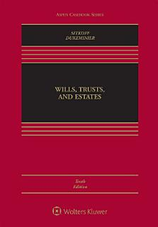 Wills Trusts   Estates  Tenth Edition Book