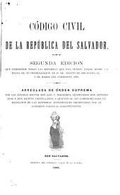 Código civil de la república del Salvador
