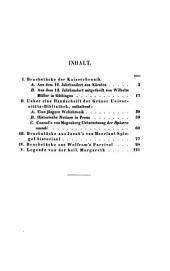 Kleine Beiträge zur älteren deutschen Sprache und Literatur: Band 1