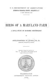 Birds of a Maryland Farm: A Local Study of Economic Ornithology