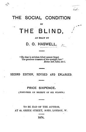 The Social Condition of the Blind  an Essay     Second Edition  Revised  Etc PDF