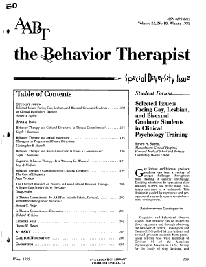 The Behavior Therapist