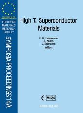 High Tc Superconductor Materials
