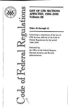 Code of Federal Regulations  Titles 28 through 41 PDF