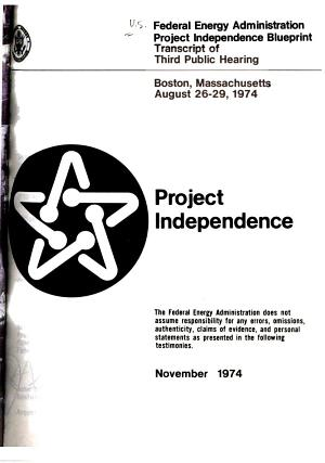 Project Independence PDF
