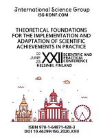 THEORETICAL FOUNDATIONS FOR THE IMPLEMENTATION AND ADAPTATION OF SCIENTIFIC ACHIEVEMENTS IN PRACTICE PDF