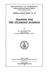 Training for the Steamship Business