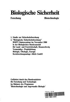 Biologische Sicherheit PDF