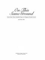 On this Same Ground PDF