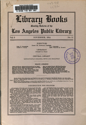 Library Books: Monthly Bulletin of the Los Angeles Public Library, Volume 9, Issue 11