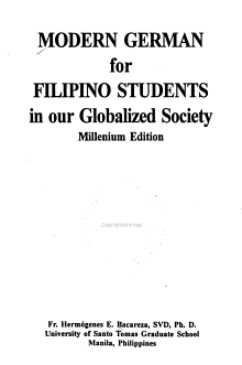 Modern German for Filipino Students in Our Globalized Society PDF