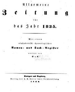 Allgemeine Zeitung PDF