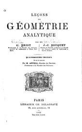 Leçons de géométrie analytique