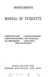 Routledge's manual of etiquette