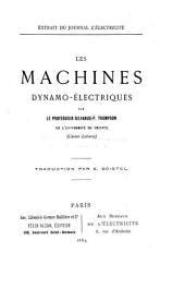 Les machines dynamo-électriques