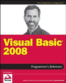 Visual Basic 2008 Programmer s Reference PDF