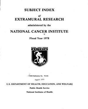 Subject Index of Extramural Research Administered by the National Cancer Institute PDF