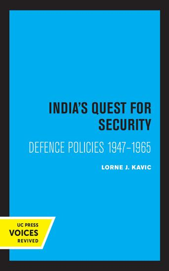 India s Quest for Security PDF