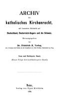 Archiv f  r katholisches Kirchenrecht PDF
