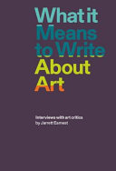 What it Means to Write About Art PDF