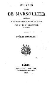 Œuvres choisies de Marsollier: Volume2