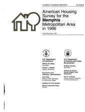 Current housing reports: American housing survey, Memphis, TN-AR-MS, metropolitan statistical area. Housing characteristics for selected metropolitan areas