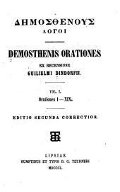 Demosthenis Orationes: Volume 1