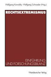 Rechtsextremismus: Einführung und Forschungsbilanz