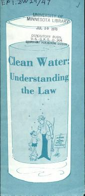 Clean water: understanding the law