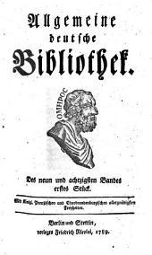 Allgemeine deutsche Bibliothek: Band 89