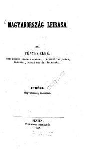 Magyarország leirása: 1. kötet