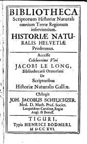 Bibliotheca scriptorum historiae naturalis