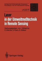 Laser in der Umweltmeßtechnik / Laser in Remote Sensing: Vorträge des 10. Internationalen Kongresses / Proceedings of the 10th International Congress